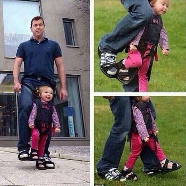Dad designs shoes to give his paralyzed daughter the sensation of walking. http://t.co/KzEqjeNDSc