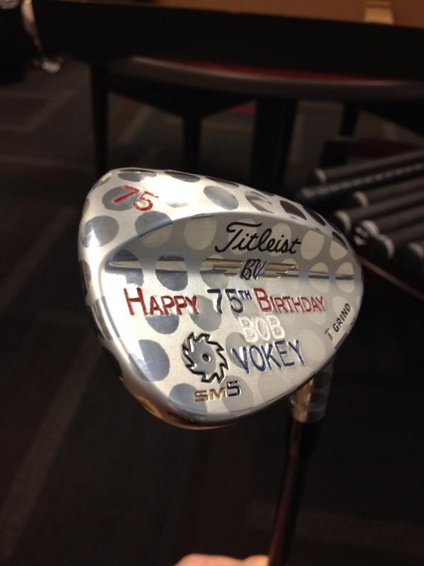 One of a kind 75 degree wedge for Da Voke courtesy of @Vokeywedgerep #ultraLob http://t.co/qe9NRYvFSK