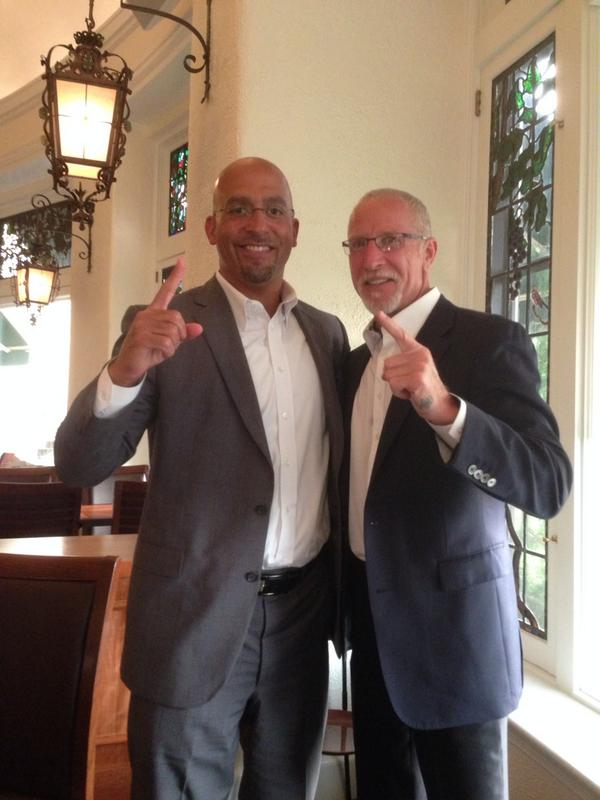 Hanging w new #PennState head #football coach James Franklin. What a super guy!