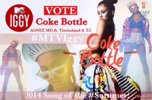 NEZindaCLUB OFFICIAL (@NICofficial): Vote! RT @afikri93: Go vote @AGNEZMO on @mtviggy for 2014 song of the #Summer! http://t.co/xmzrnPjxPI cc @NICofficial http://t.co/7RXVNQjU0P