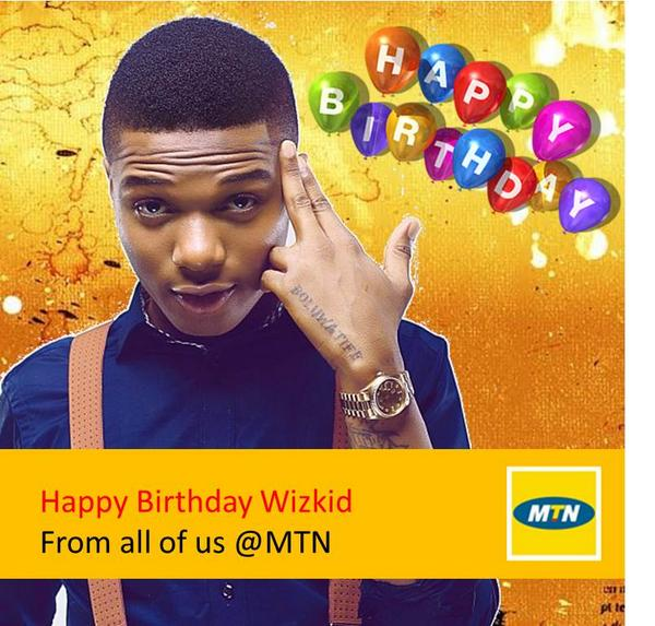 """A very happy birthday to @wizkidayo our very own """" Star Boy """" we wish you abundant happiness . Have an amazing day!! http://t.co/fP5EdJmfxU"""