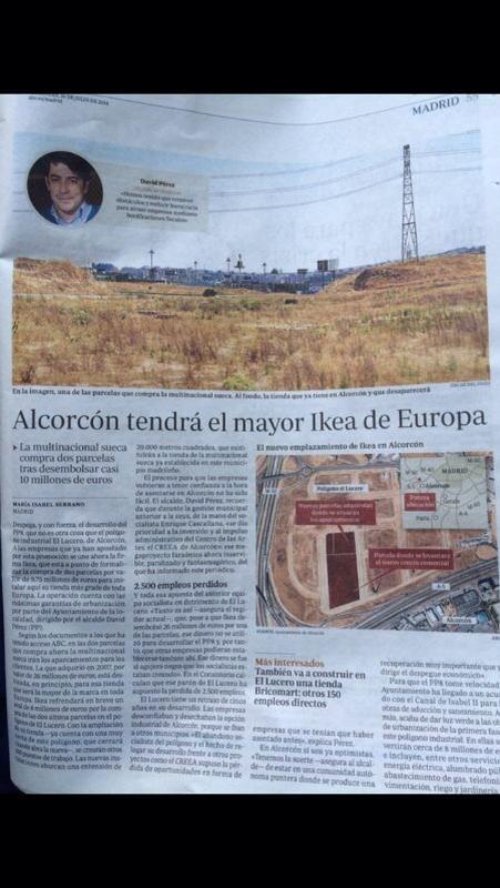 #Alcorcón tendrá el mayor @ikea de #Europa http://t.co/iaC8b7AyM8