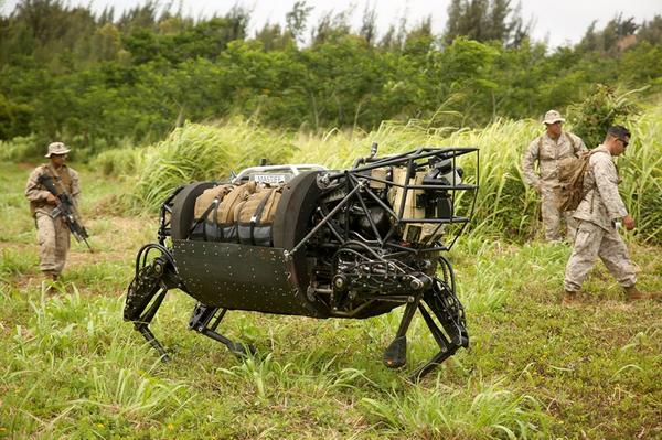 "Meet the robot ""cow"" that Marines are using. Looks like Darth Vader's troops would drive it. http://t.co/W2rvF4zI2W http://t.co/ygBnqs3Xz3"