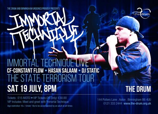 BIRMINGHAM STAND UP!! I'm supporting @ImmortalTech at @The_Drum this saturday 19th!! Don't miss out!! Tickets online http://t.co/tW50Egb8bB