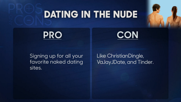and of being nude Pros cons