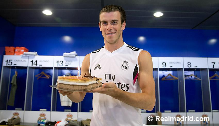 Real Madrid wish Gareth Bale Happy 25th birthday with some cake & a video montage