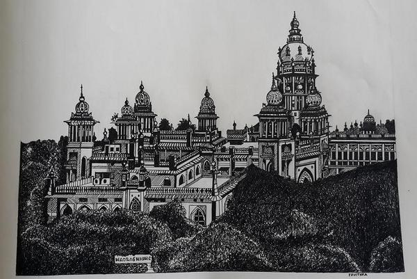 I'm rediscovering my city through my sketches. #Madras #HighCourt #Ink #Art http://t.co/xe6CKIupGD