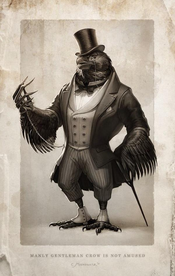 I will never NOT retweet a raven in spats. RT @ravenmaster1: The Gentleman Raven. http://t.co/SqpF08XbKh