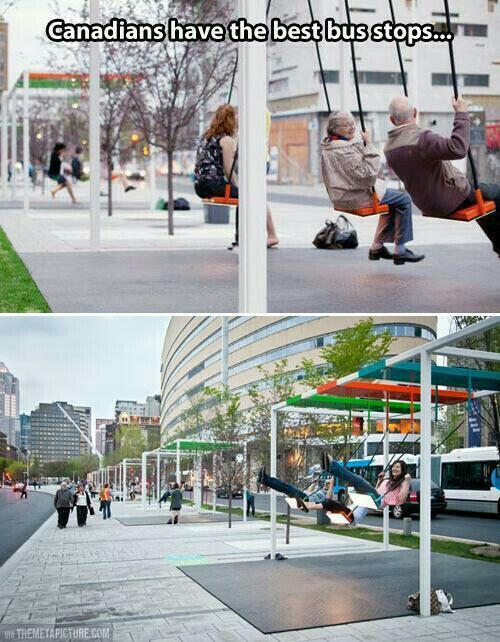 Awesome bus stops in Canada. http://t.co/k2yQUb54IP