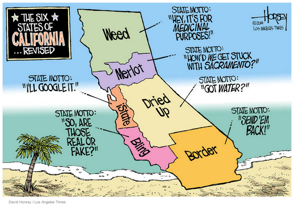 Divide California Into 6 States Congress Would Never Give That Much