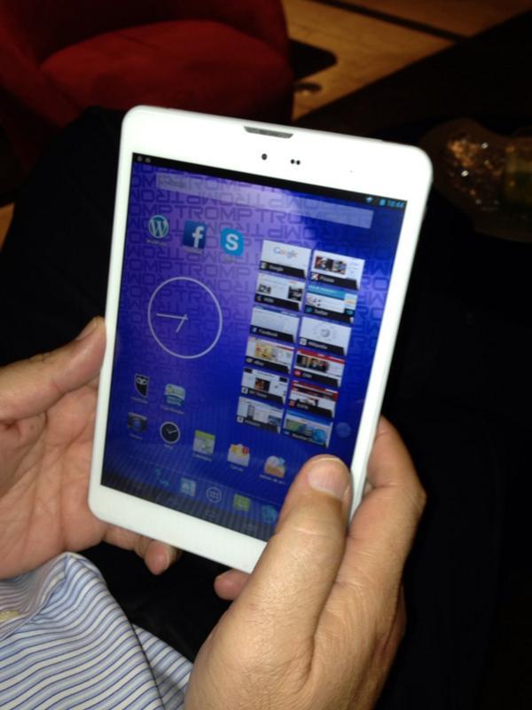 """Diseñada por venezolanos, hoy se lanza en Valencia la tableta de 7.9"""" #Tromp-T1. Posicionada vs. iPad mini http://t.co/GdUflxwp2x"""