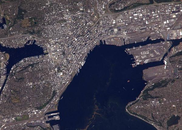 Here's a picture of Seattle taken by the International Space Station last week. Can you spot yourself? http://t.co/Zzc2bT7zrp