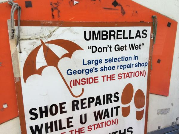 FINALLY umbrellas have a slogan. http://t.co/1qtHTpZRxI