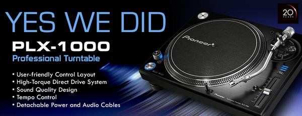 #Vinyl DJs rejoice! Introducing the @PioneerDJ #PLX1000 Professional #Turntable! #YesWeDid. http://t.co/drNHiIrvnP http://t.co/gD8FAmiGSU