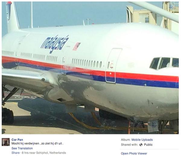 """อึ้ง! หนุ่มดัชต์โพสต์เฟซบุ๊กก่อนขึ้นบินกับ #MH17 เขียนว่า """"เผื่อเครื่องบินลำนี้หายไป จะได้รู้ว่ามันหน้าตาเป็นยังไง"""" http://t.co/TpUXZseA3U"""
