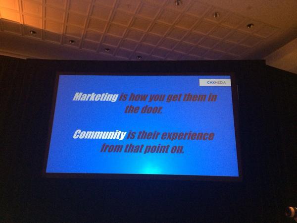 Marketing vs community courtesy of @davidspinks #socialfresh http://t.co/BcC3OzpKbX
