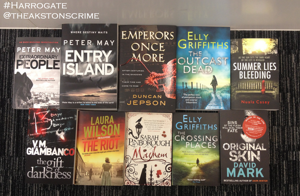 You've got till 4PM Monday to RT this lovely picture of all the books. Enjoy! @OldTheakstonsCrime: http://t.co/PY7WzXLyv8