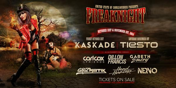 FreakNight 2014 2-day passes go on sale Wednesday, July 23rd at Noon PDT at http://t.co/Thg0prNBAk http://t.co/RcJnbtyhz9