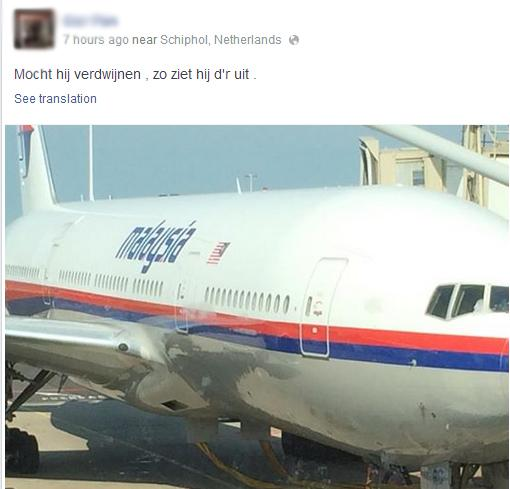 """A passenger posted Facebook pic of flight MH17 before boarding saying """"If it disappears, this is what it looks like"""" http://t.co/V8OkJ9v0ug"""