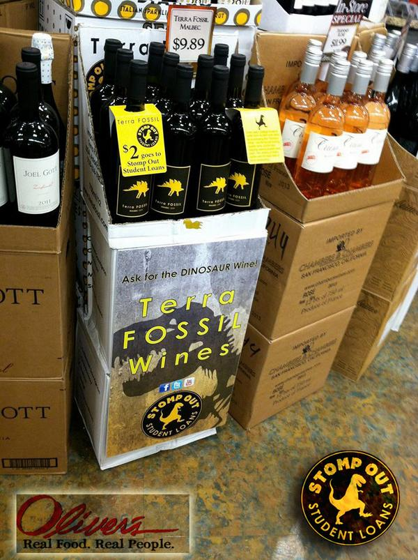 Great cause! Buy @terrafossil wine $9.89/bottle @oliversmarket $2 of each bottle supports @SSU_1961 & @SRJC students http://t.co/Wa1XmQ3O0w