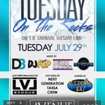 July 29th | #TuesdayOnTheRocks at The Avenue. Free admission all night. 6 Beers for $20. Perfect pre-carnival lime. http://t.co/92LXAxXvkS