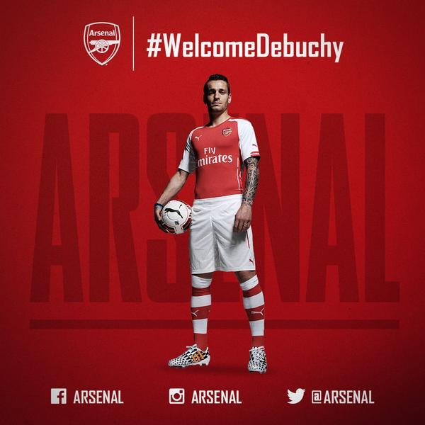 マテュー・ドゥビュシーがアーセナルと契約を締結!@Arsenal! Get the details here: http://t.co/bf4prOjLv8  #WelcomeDebuchy http://t.co/Ms5dPVCSzy
