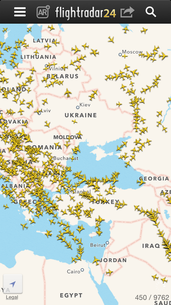 A lot of air traffic is being re-routed around Ukraine right now: http://t.co/AP09KufMgr (via @paw)