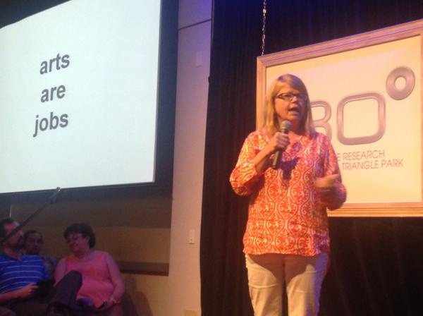 """""""Arts are jobs."""" Very well, and simply put by @TriArtWorks #rtp180 http://t.co/NsvhMCAKR0"""