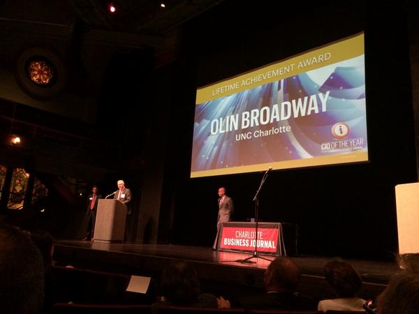 Olin Broadway wins Lifetime Achievement Award at #cioawards http://t.co/EoZ4SUFU1y
