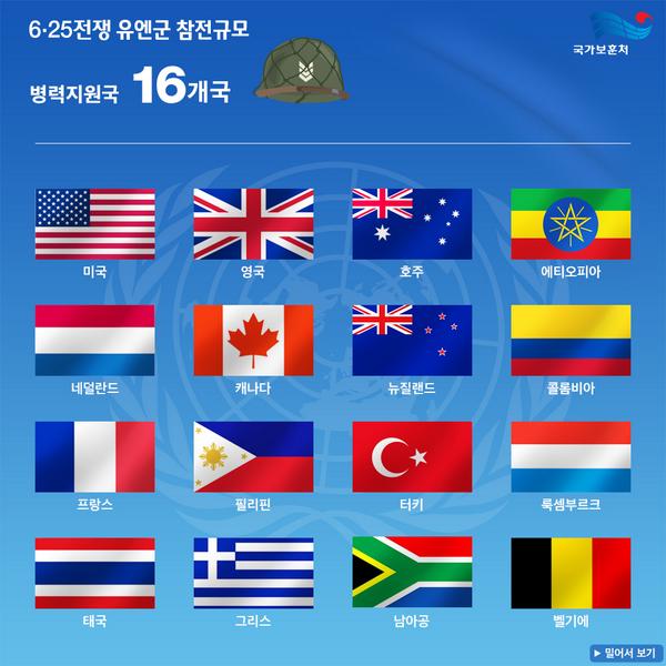 [RT이벤트]7월 27일은 유엔군 참전의 날입니다. 6·25전쟁에 참전한 63개국 참전규모 인포그래픽을 RT하면 추첨을 통해 20분께 던킨도너츠 먼치킨팩10ea를 드립니다(~7.27) #유엔군참전규모 http://t.co/u8kKwbLWtp