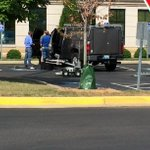 BREAKING: This is from the scene at the Warren County Justice Center. A robot to look at the package in on the scene. http://t.co/3w4fpUH3U8