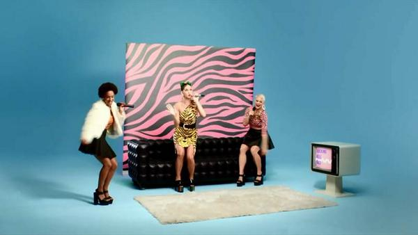 ♥ @katyperry in a Moschino CheapAndChic tiger print dress from the Resort 2015 in her new video #ThisIsHowWeDo!!! ♥ http://t.co/3qBpV5B2jX