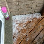 Hail in August! Thanks to @570news listener: Feroz Jessani for the picture: http://t.co/DXDREWfGlG