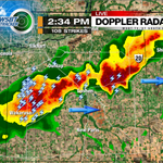 RT @MattRudkinWSBT: 2:35p: Elkhart county seeing the strongest storm. Heavy rain, lightning and small hail. #INwx http://t.co/b6GqG1ctFw