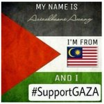 RT @AzizulAWANG: My name is AzizulAwang , im from Malaysia and i #SupportGaza #SAVEGAZA #SVGZ http://t.co/18TwQzpwhQ