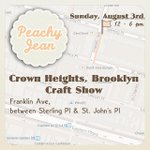 #Brooklyn! Shop the Block on Sunday in Crown Heights, with Peachy Jean. @iloveFranklinAve & St. Johns Pl http://t.co/wsHNdkUWBb