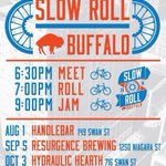 RT @deepthinka: @BfloTheatreDis Slow Roll Buffalo kicks off 2NITE! Meet at HandleBar (149 Swan St) @ 6:30pm #SlowRollBUF #Buffalo http://t.co/t8IJUUOKUs