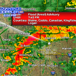 "Flood Advisory posted. 1-2"" of rain will lead to streams rising. #okwx http://t.co/8j3u3mi8XG"