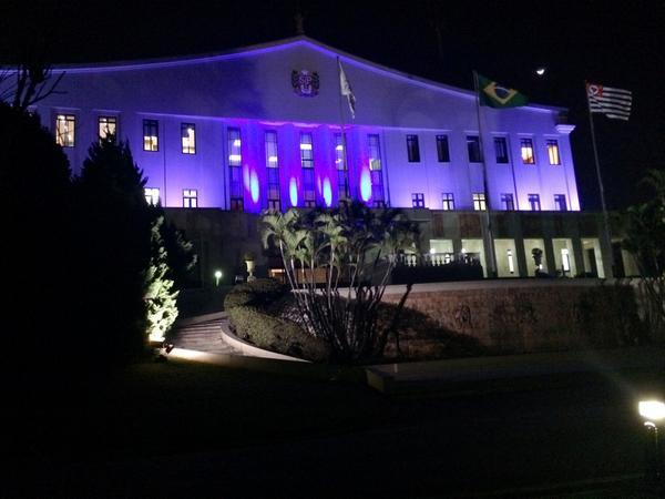 9 prédios públicos de SP ganham iluminação azul-apoio à Campanha Coração Azul-ONU Enfrentamento ao Tráfico de Pessoas http://t.co/zRg0sHgGxB