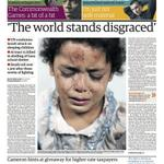 "RT @ZainahElHaroun:  THE WORLD STANDS DISGRACED @Guardian pg. 1 https://t.co/dIed7wCXc5 Quote is from UNs http://t.co/wmvZSucTnA"" #ICC4Israel #ICC4Israel"