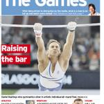 Front of @TheScotsmans @ts_sport #glasgow2014 pull-out Raising the bar #scotpapers http://t.co/RZNzfnvvzr