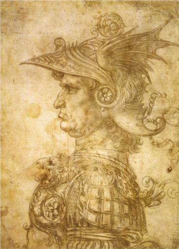 "RT @L_ArtNinja: #artninja ""@marioandreolini: Leonardo da Vinci,Profilo di un guerriero nel casco http://t.co/mRj54jQ7yu"""