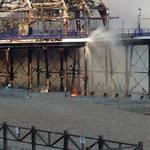 More photos of Eastbourne Pier from our Officers who are working with the Emergency Services to control the blaze. http://t.co/qNgrm9ew5r