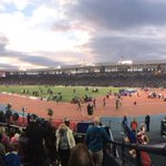 The stadium is packed for the athletics tonight! Plenty of kiwis here to watch @ValerieAdams84 in the shot put! http://t.co/lPUYXaG4cV