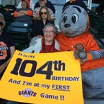RT @SFGiants: 104 years young...#SFGiants http://t.co/9T7zqlsh3N