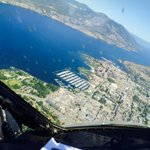 View of Kelowna waterfront from the Snowbird 8 jet at this mornings practice! #kelowna @BradyStrachan http://t.co/UkhOIDbFR4