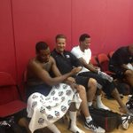 Cal forever. RT @ramonashelburne John Wall and Derrick Rose catching up with Cal http://t.co/ICjLeDA1vC