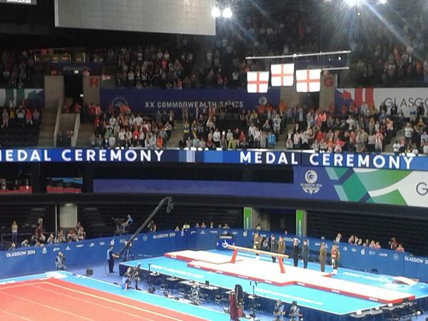 Three English flags flying high for @weRengland with champ @claudia_frag silver @RubyHarrold & bronze @HannahkWhelan http://t.co/vXxzN0YYLF