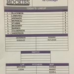 #Rockies lineup vs. #Cubs. RHP Rob Scahill up, INF Cristian Adames optioned, Rutledge available in emergency http://t.co/x0DxmdQ7BB