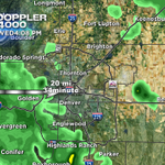 RT @WeatherMcHeffey: If heavier rain stays together, looks like #Denver will get it before 5P. http://t.co/QjChGOTBbV http://t.co/6p21TSNZAO